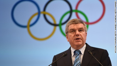 President of International Olympics Committee Thomas Bach