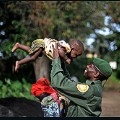 Virunga National Park congo park ranger and daughter