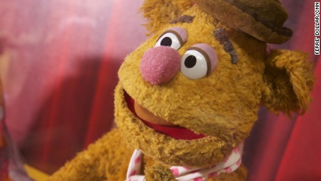 Fozzie Bear says hello. The museum also contains other puppets from around the world.