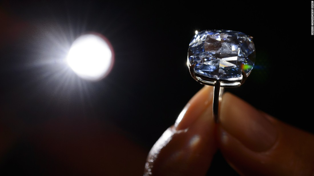 This 12.03-carat blue diamond fetched $48.4 million at auction on November 11, 2015. It was previously the world's most expensive price-per-carat diamond sold.