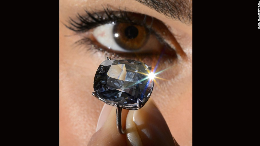 The fancy, vivid blue diamond was discovered in South Africa in January last year.