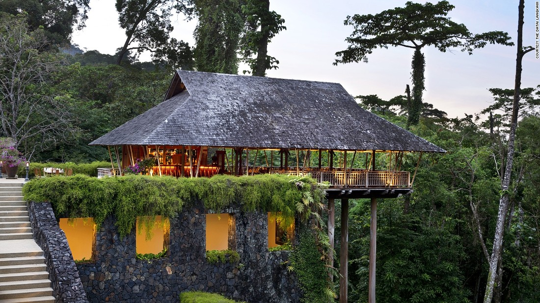 The Datai Langkawi has 125 rooms and villas with views of the forest as well as the Andaman Sea.