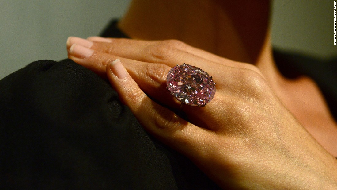 "In recent years, other high-value diamonds have hit the auction block. The 59.60-carat oval cut pink diamond known as ""The Pink Star,"" went for $80 million at a 2013 Sotheby's auction. However, after the buyer defaulted on payment, it was returned to Sotheby's."