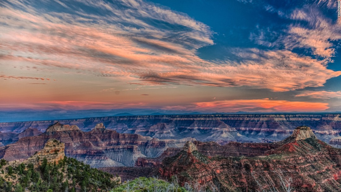 On the North Rim of the Grand Canyon, the Widforss Trail is a few miles longer than the Cape Final Trail and leads to an equally beautiful viewpoint along the canyon rim. This trail is perfect for a flat but longer day hike or a short backpack trip to take in the sunset and sunrise over the canyon.