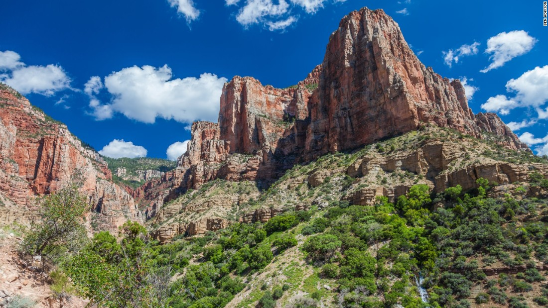 While there are a few day hike options along the North Kaibab Trail, it's best suited for a multi-day backpack trip, with time to explore numerous streams, side canyons and cottonwood-shaded campsites.