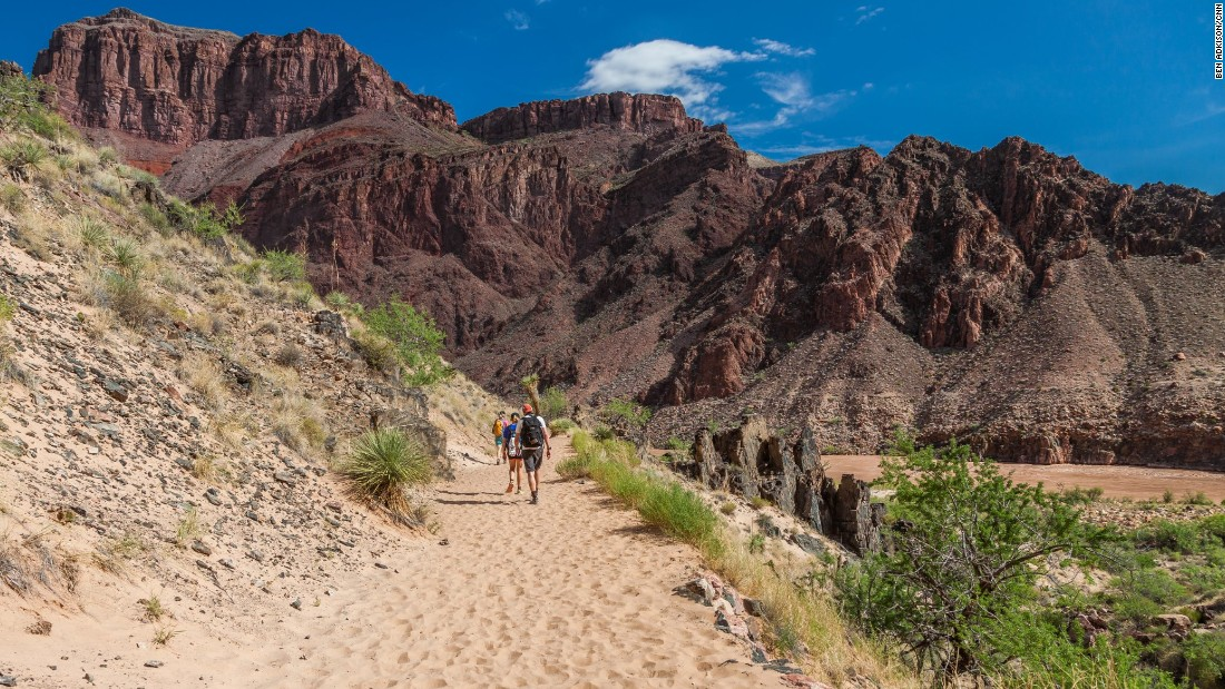 The Bright Angel Trail is one of the most popular trails in the Grand Canyon. In summer, water is available at rest stops along the trail to the Colorado River. In winter, water is found at Indian Garden Campground -- halfway between the rim and river.<br />