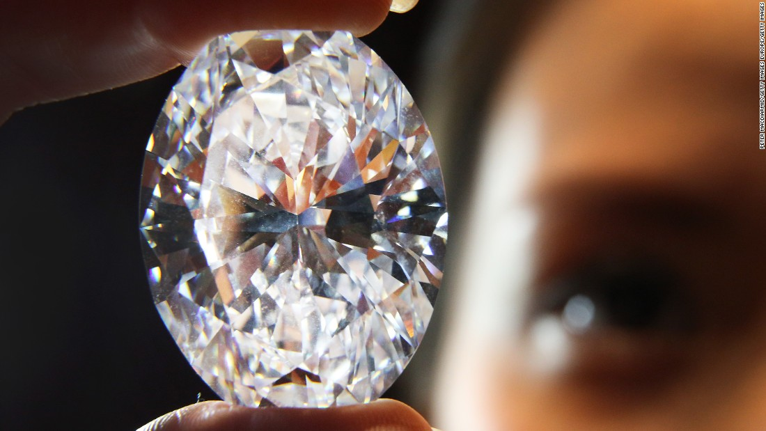 This 118.28 oval white diamond became the largest sold at auction when it went for $30.6 million at a Sotheby's auction in 2013.