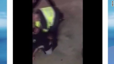 officers on leave aggressive arrest video tuscaloosa alabama pkg_00000000
