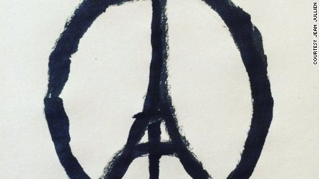 French illustrator Jean Jullien drew this after he learned about the Paris attacks.