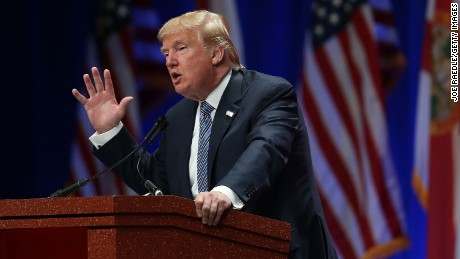 Republican presidential candidate Donald Trump speaks during the Sunshine Summit conference being held at the Rosen Shingle Creek on November 13, 2015 in Orlando, Florida.