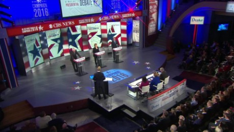 democratic debate candidates on paris attacks bts _00001903