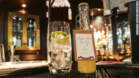 Raffles 1915 adds lemongrass, jasmine and other ingredients to the traditional London gin recipe.