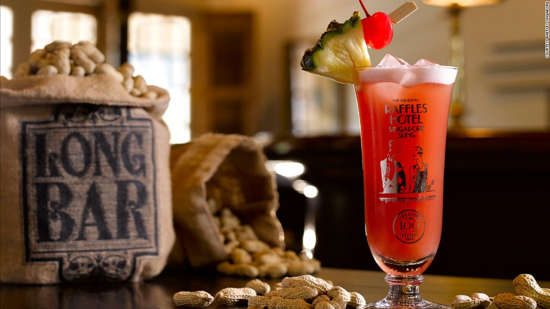 The gin-based Singapore Sling was invented at the Raffles Hotel's Long Bar in 1915. Raffles Singapore has been working with Sipsmith artisan gin to create a centennial version of the national drink.