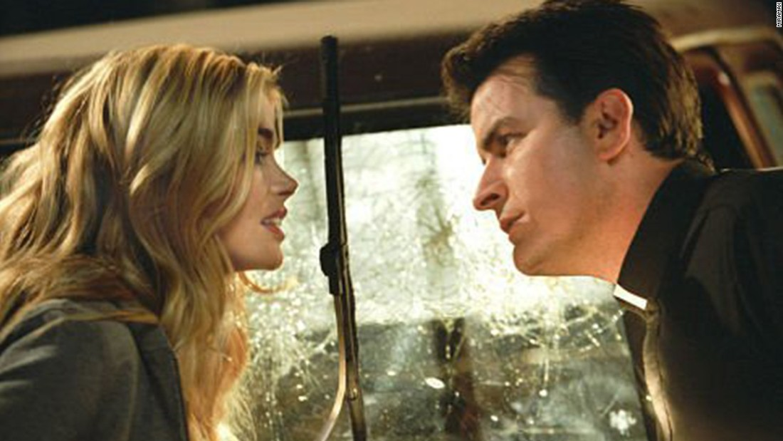 "Sheen occasionally popped up in movies in the 2000s, though not of the level of his '80s work. Among them were ""Scary Movie 3,"" seen here with Denise Richards, ""Scary Movie 4"" and ""Scary Movie 5."""