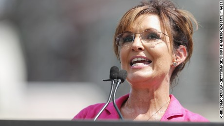 WASHINGTON, DC - SEPTEMBER 09:  Former vice presidential candidate Sarah Palin addresses a rally against the Iran nuclear deal on the West Lawn of the U.S. Capitol September 9, 2015 in Washington, DC. Thousands of people gathered for the rally, organized by the Tea Party Patriots, which featured conservative pundits and politicians.  (Photo by Chip Somodevilla/Getty Images)
