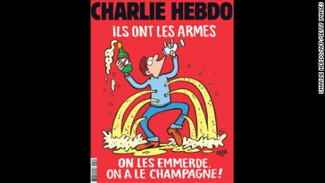 Charlie Hebdo's cover responded to the November 2015 terror attack in Paris.