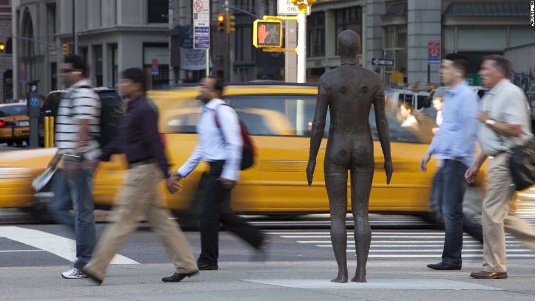 "The project <a href=""http://www.nytimes.com/2010/03/19/arts/design/19gormley.html?_r=0"" target=""_blank"">received</a> mixed responses in New York. Although the local authorities had assured the public that the figures were works of art, there were still concerns over the similarities between the installation and images of 9/11 victims jumping to their deaths."