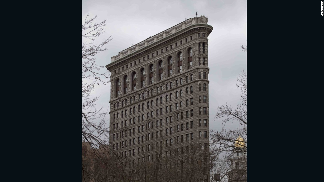 When scouting locations for his installation in New York, Gormley focused specifically on historic buildings, like the city's famous Flatiron landmark.
