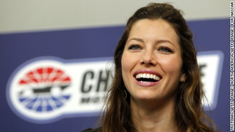 CONCORD, NC - MAY 30:  Actress Jessica Biel  speaks during a press conference prior to the NASCAR Sprint Cup Series Coca-Cola 600 at Charlotte Motor Speedway on May 30, 2010 in Concord, North Carolina.  (Photo by Chris Trotman/Getty Images for NASCAR)