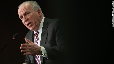 CIA Director John Brennan answers questions after delivering remarks at the Center for Strategic and International Studies November 16, 2015 in Washington, D.C.