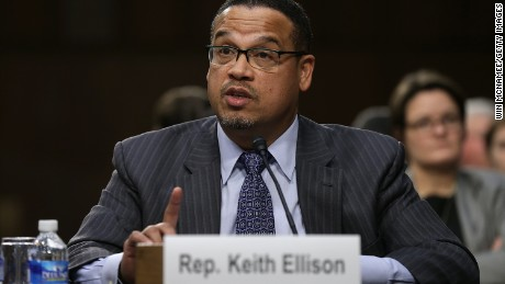 Rep. Keith Ellison (D-MN) testifies before the Senate Judiciary Committee's Constitution, Civil Rights and Human Rights Subcommittee December 9, 2014 in Washington, D.C.