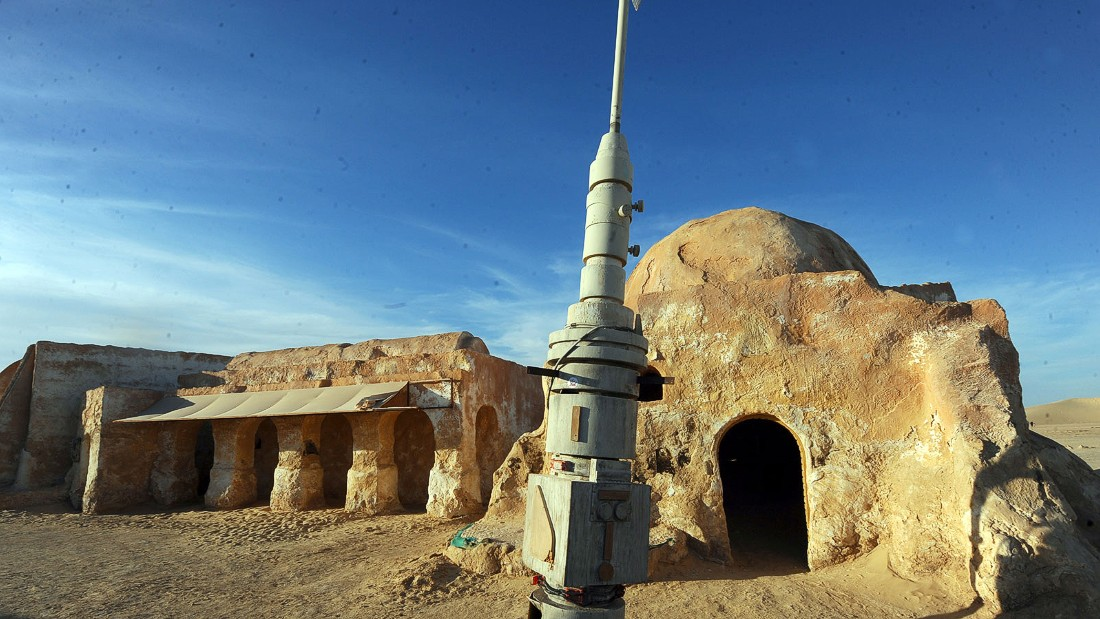 Sets depicting the spaceport of Mos Espa on Anakin and Luke Skywalker's home planet Tatooine are still standing near the Tunisian town of Nefta.