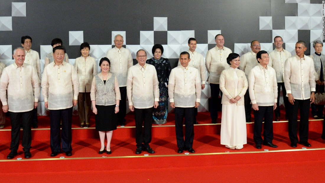 In 2015, the meeting was hosted by the Philippines, which chose its barong tagalog, an embroidered white shirt made from pineapple fiber and silk. As far as embarrassing shirts go, it wasn't too bad... unlike previous years.