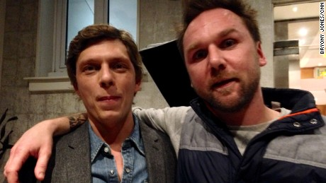 Antoine Leiris, left, and Nicolas Strohl