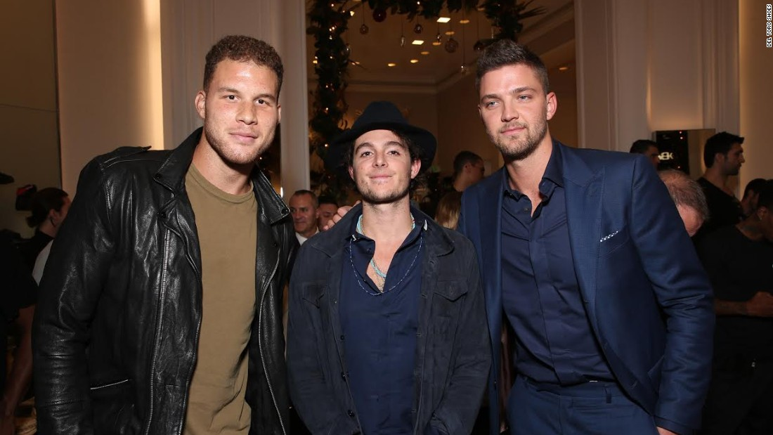Matthew Chevallard, creator of Del Toro shoes, counts over 100 NBA players as clients. Here he is flanked by Blake Griffin (left) and Chandler Parsons (right).