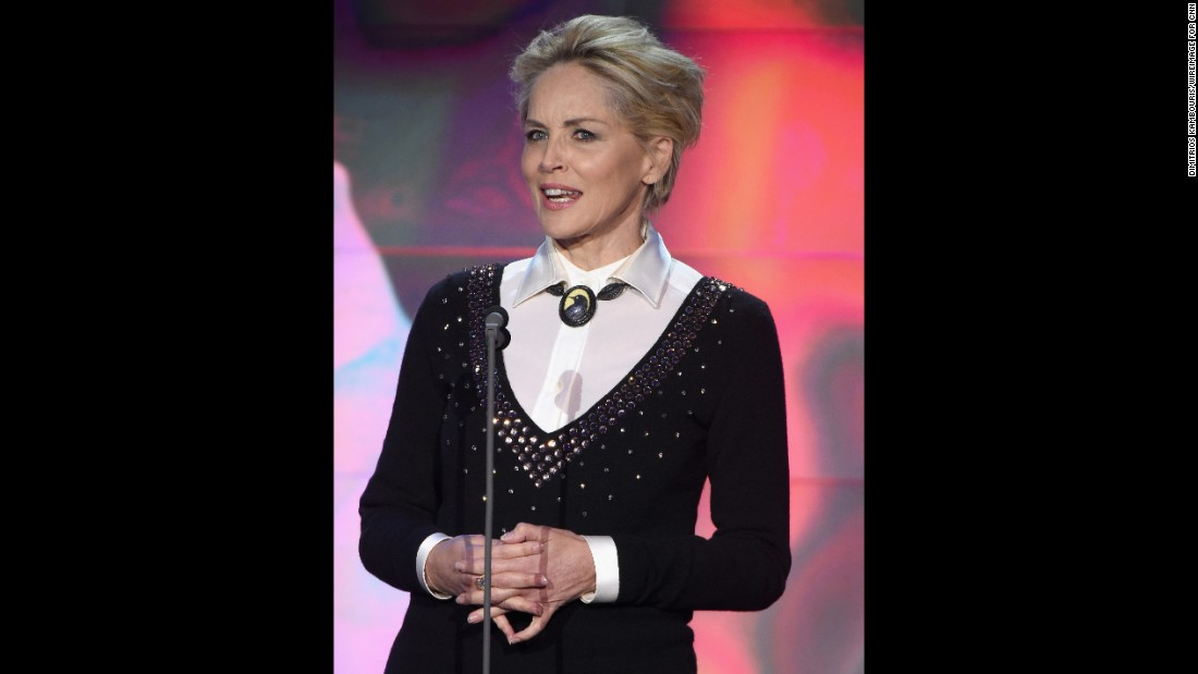 "Academy Award nominated actress Sharon Stone -- star of TNT's new series ""Agent X"" --  presented an award during the ceremony, which was held at New York's American Museum of Natural History."