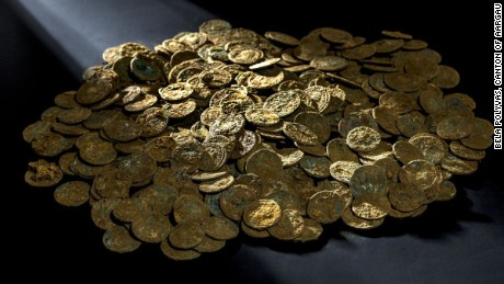 Treasure trove: Farmer discovers 4,000 Roman coins in Swiss orchard