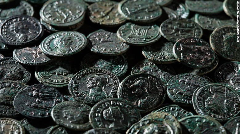 Farmer finds over 4,000 ancient coins in orchard