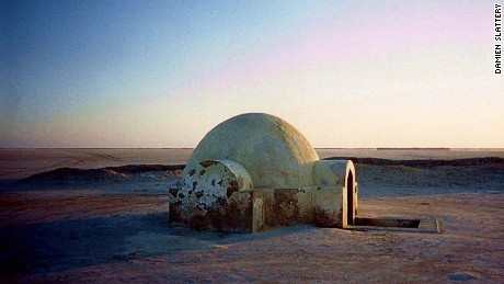 Luke Skywalker's igloo home.