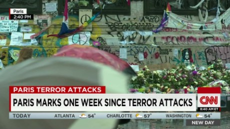exp Paris marks one week since terror attacks _00002001