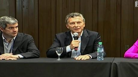 ARGENTINA:PRESIDENT-ELECT MAURICIO MACRI PRESSER