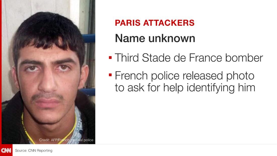 Stade de Paris bomber, name unknown