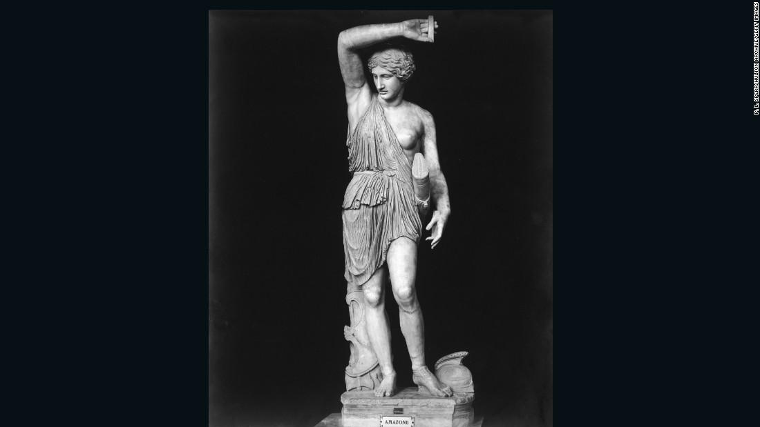 "Here, a classical style statue of an Amazon warrior stands in the Vatican Museum, Rome.<br />How have the Amazons been immortalized in art?<br />""The Greeks surrounded themselves with images of Amazons,"" explained Mayor. ""More than 1,000 Greek vases survive depicting the exploits of Amazons."" <br />""Amazons were also wildly popular in public wall paintings, carved gems, figurines, statuary, and monumental sculptures on temples such as the Parthenon on the Athenian Acropolis."""