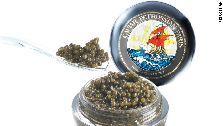 Top grade caviar is usually lighter in color.