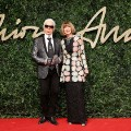 british fashion awards 2015 anna wintour karl lagerfeld