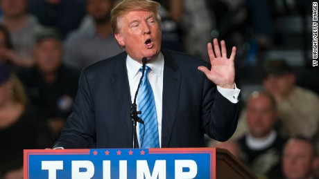 Republican presidential candidate Donald Trump addresses supporters during a campaign rally at the Greater Columbus Convention Center on November 23, 2015 in Columbus, Ohio.