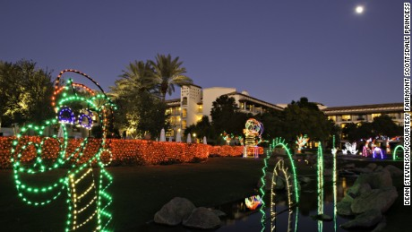 The Fairmont Scottsdale Princess rolls out a huge outdoor light display for the holidays.