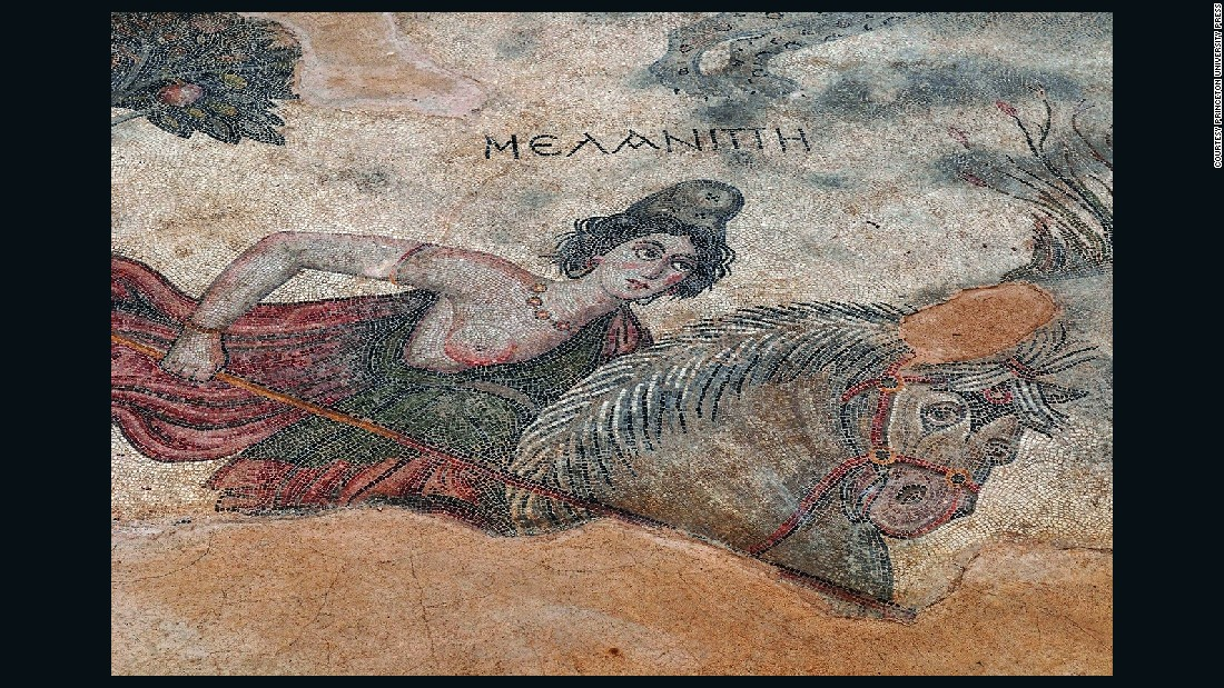 "A mosaic of Amazon queen Melanippe, from the ancient city of Edessa, in what is now Sanliurfa, Turkey.<br />""The ancient Greeks described Amazons as fierce, war-loving foreign horsewomen-archers who hunted with bows and arrows, had sex on their own terms, and equaled men in battle skills and valor,"" said Mayor.<br />""Every great Greek hero of myth, from Hercules to Achilles, proved his valor by fighting a bold Amazon queen.""<br />"