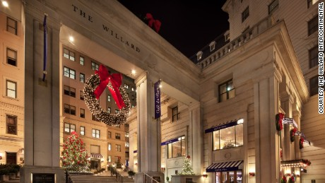 Free holiday musical performances are held in December at Washington's Willard InterContinental.