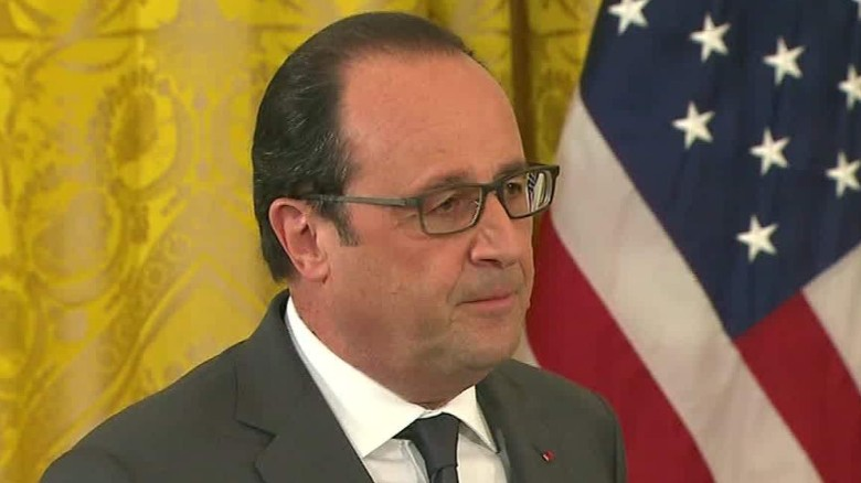 Hollande Obama action against ISIS acosta dnt tsr_00013824