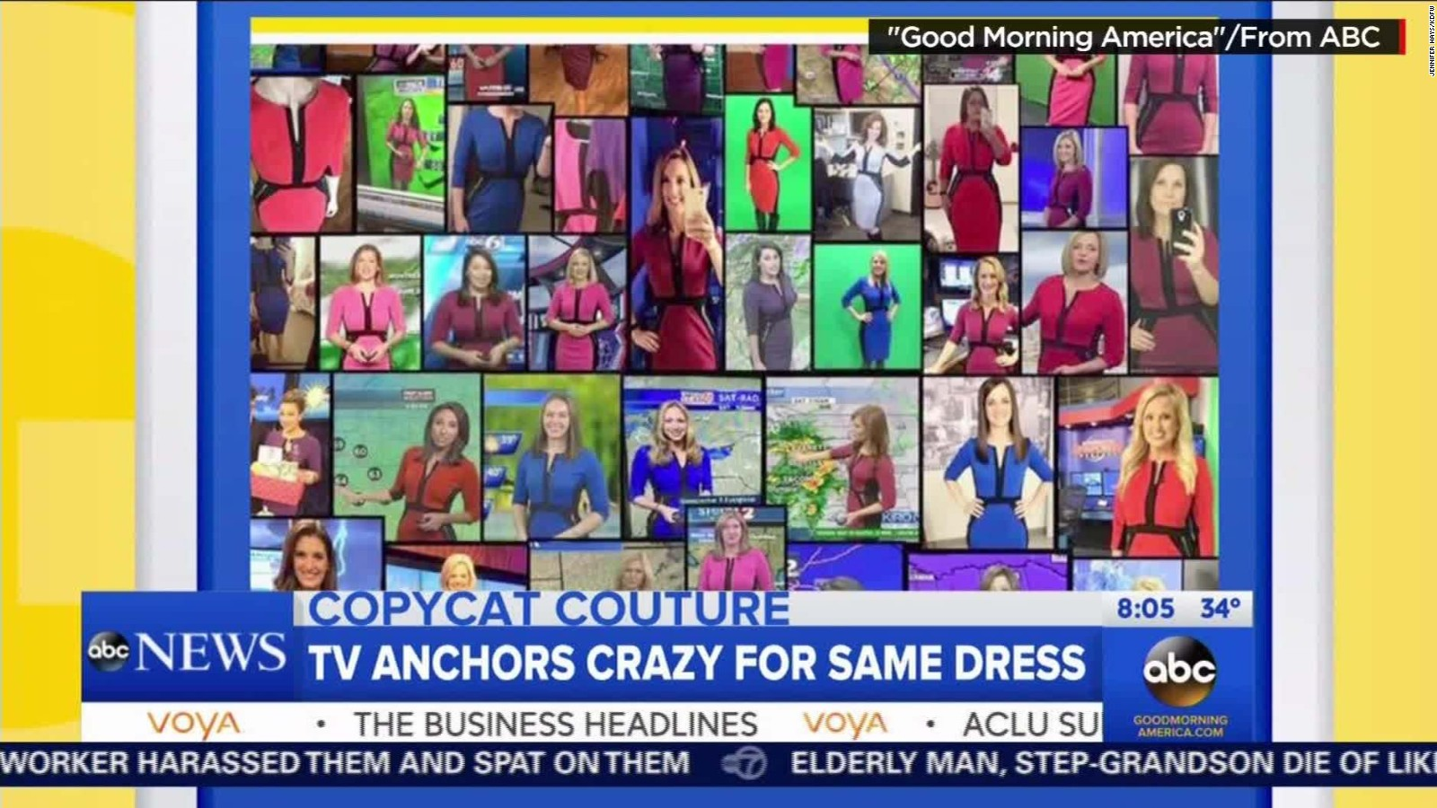 Female meteorologists all wearing same dress - Business Insider