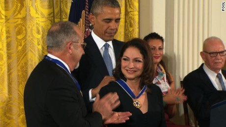 THE PRESIDENT awards the Presidential Medal of Freedom; THE FIRST LADY also attends  East Room