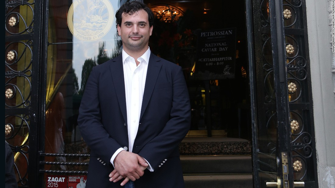Caviar expert and Petrossian vice-president Alexandre Petrossian's grandfather founded the family's luxury business in Paris almost 100 years ago.