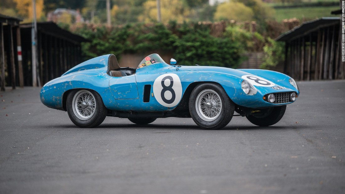 "Not content to offer a single museum-quality 1950s competition Ferrari, RM Sotheby's also auctioned this knockout, finished in ""French Blu."" With a rebuilt engine but lots of original patina, it's eligible to participate in the world's top historic events."