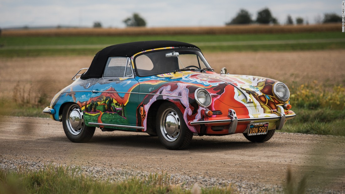 Sotheby's <em>Driven By Disruption</em> sale saw singer Janis Joplin's psychedelic Porsche Cabriolet, under the hammer. The car's psychedelic paint job came courtesy of her roadie, Dave Richards. Joplin's Porsche landed $1.76 million sale, after it went for 3 times more than its original estimate.