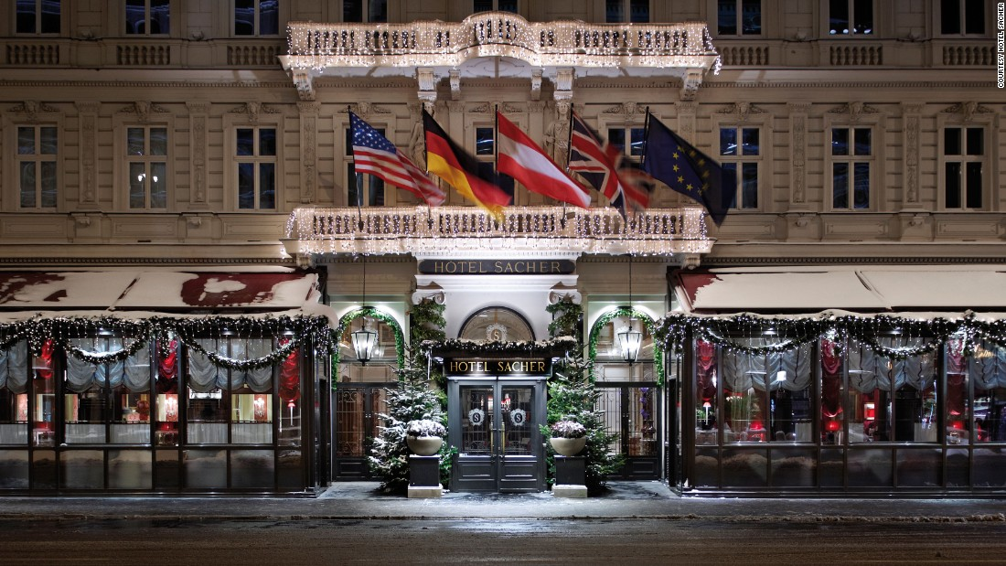 Christmas in Austria is pretty close to picture-perfect. Vienna's Hotel Sacher is home to the famous Sacher-Torte.